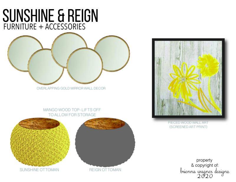 阳光主题的家具和配饰设计