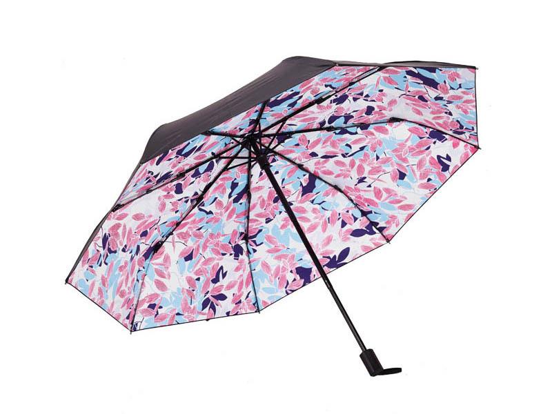 三折印花防晒伞