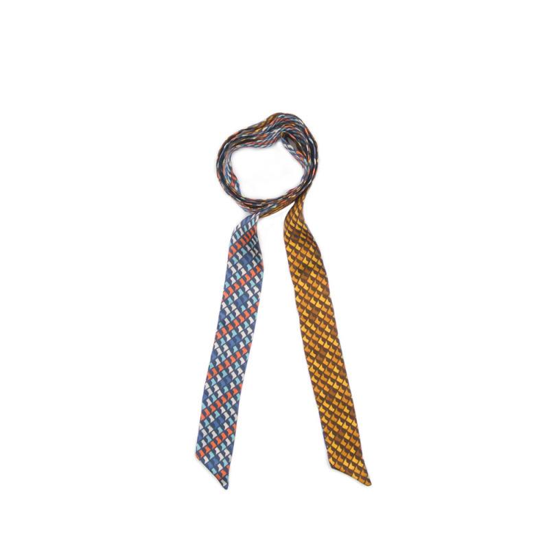 外貿原創清新絲巾頭巾窄巾花型