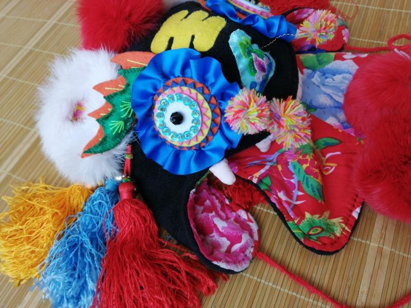 传统工艺老虎帽子