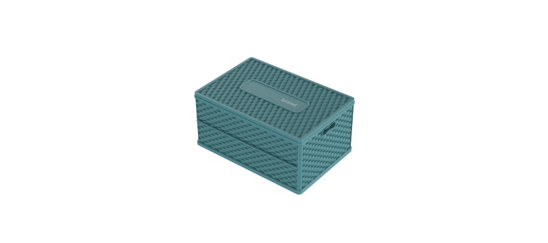 编织纹折叠塑料收纳箱