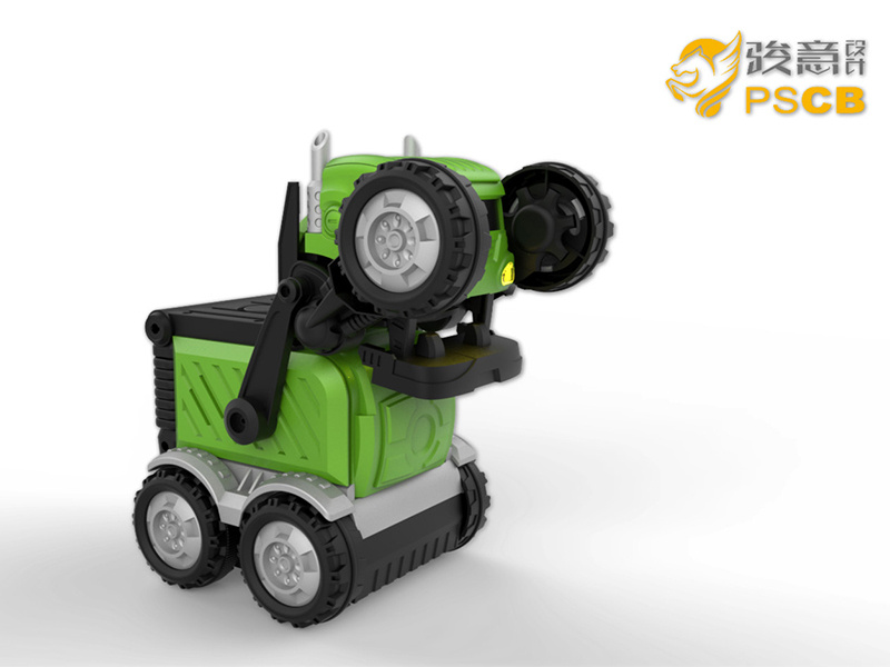 STEM智能变形互动车塑胶玩具设计开发