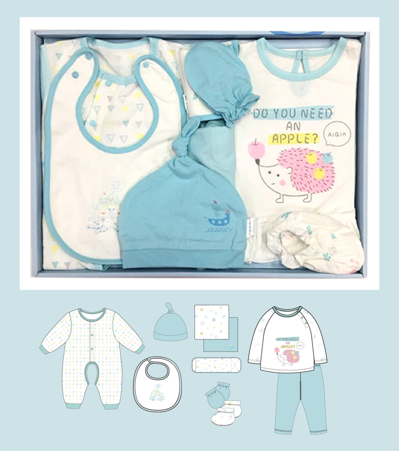 婴儿内衣礼盒