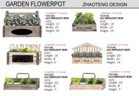 花园花卉花盆摆件