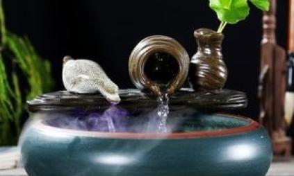 流水摆件--流水招财风水在家庭装饰的运用