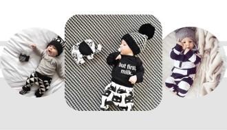 婴童的另类色彩---黑  白  灰