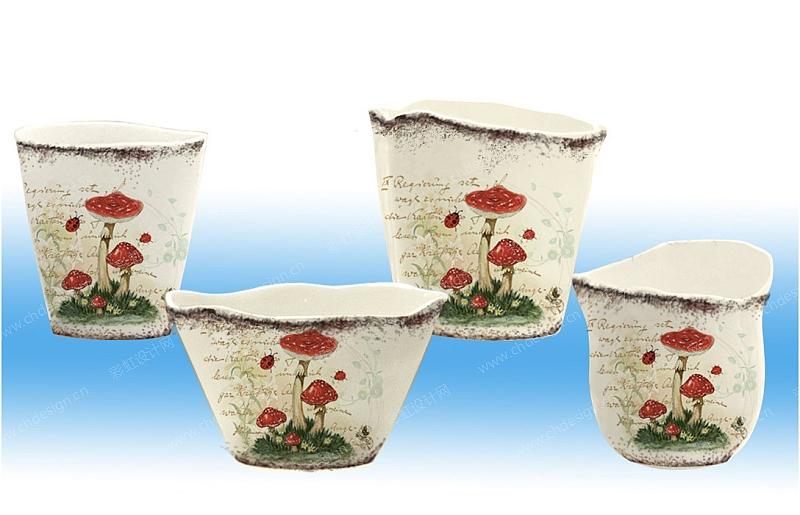 花纸图案-陶瓷花盆系列图片