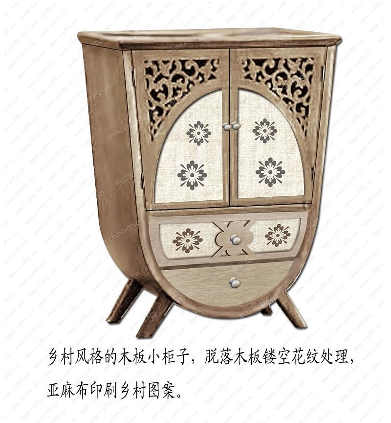 异形柜子-设计案例_彩虹设计网