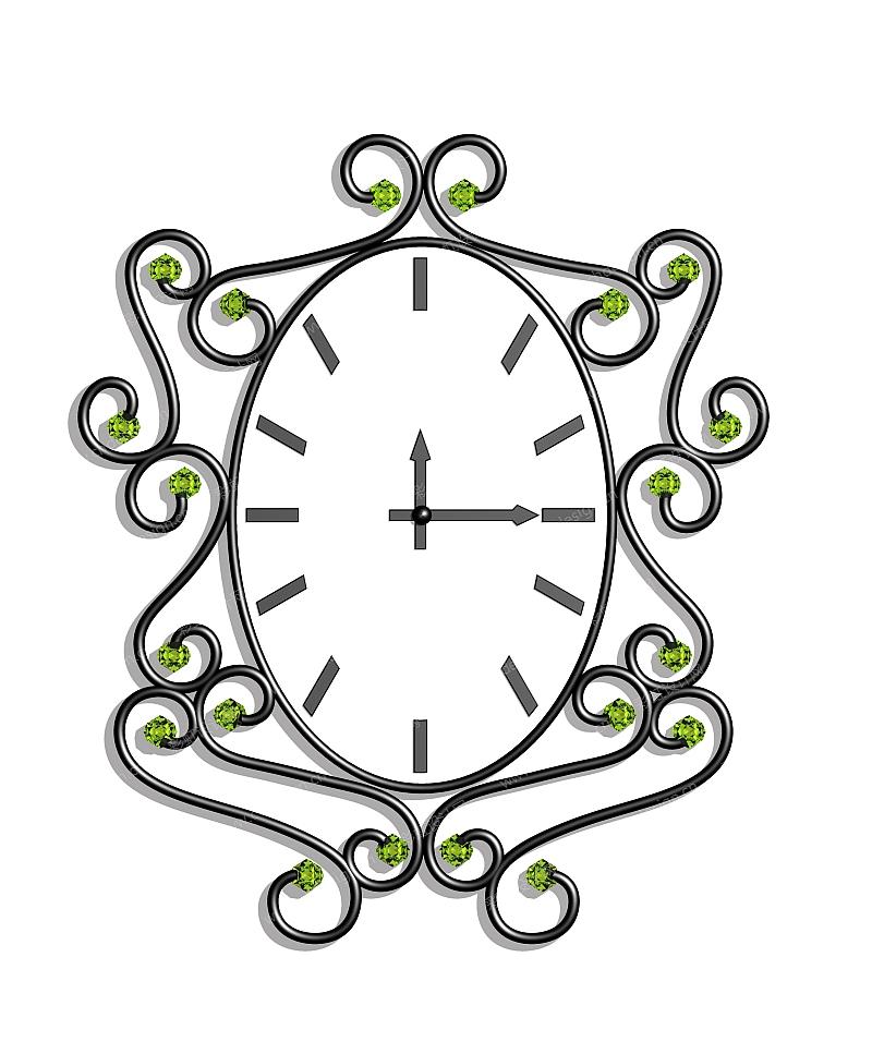 欧式风格挂钟-设计案例
