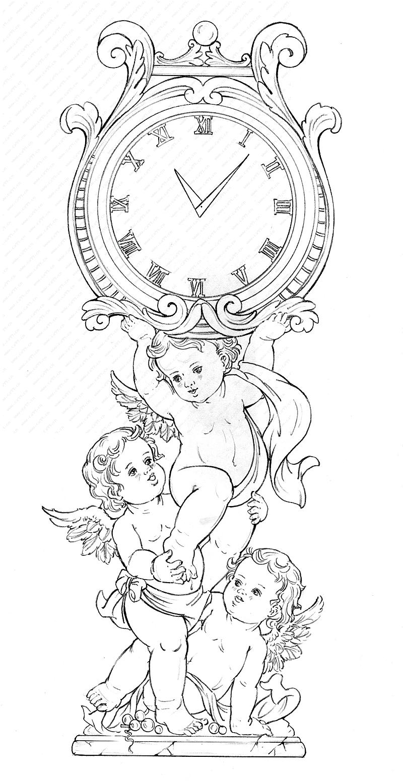 时钟怎么画手绘