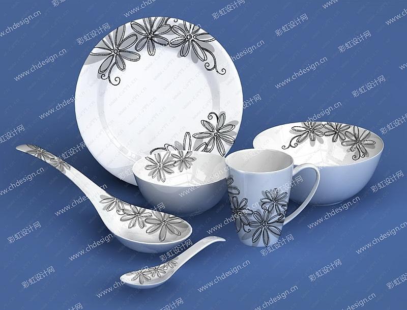 欧美时尚餐具-设计案例