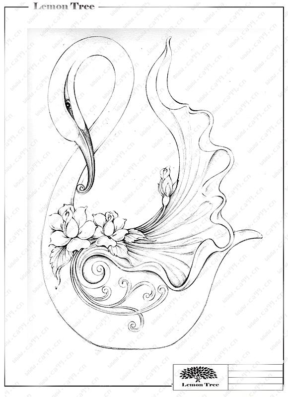 简笔画 手绘 线稿 580