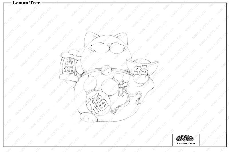 招财猫设计图