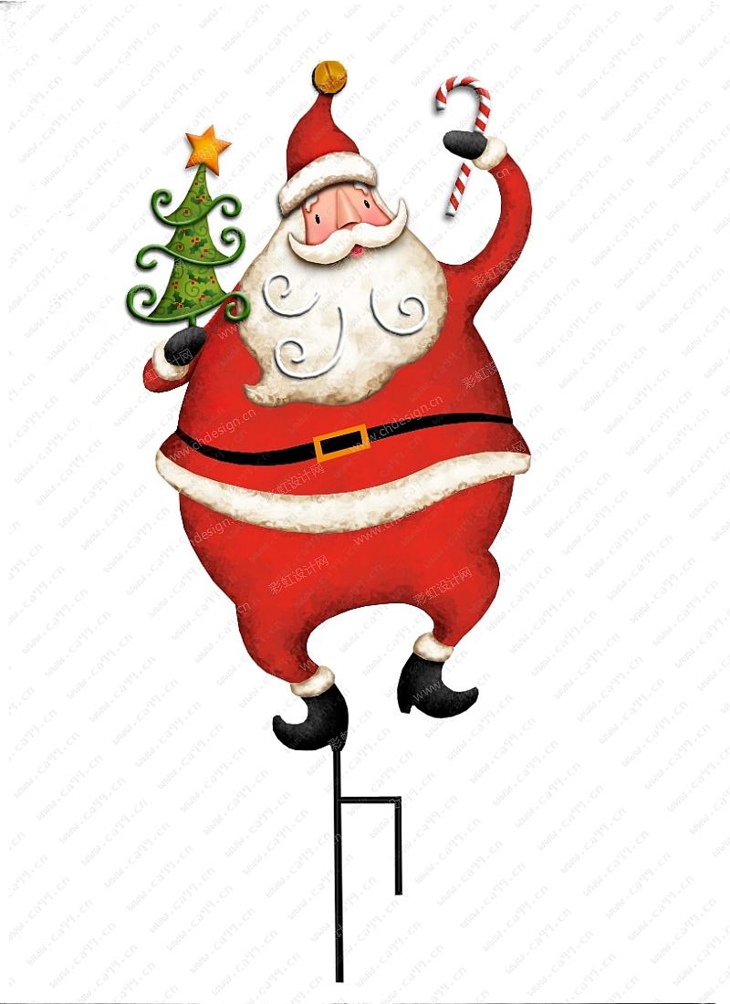 圣诞节圣诞老公插件图片