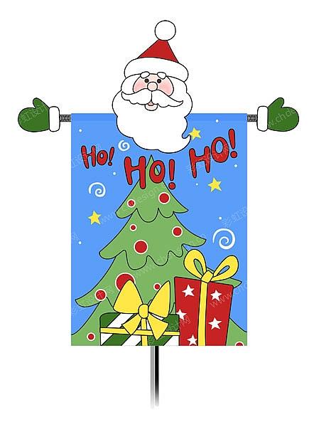 圣诞旗子圣诞树图案01-设计案例_彩虹设计网