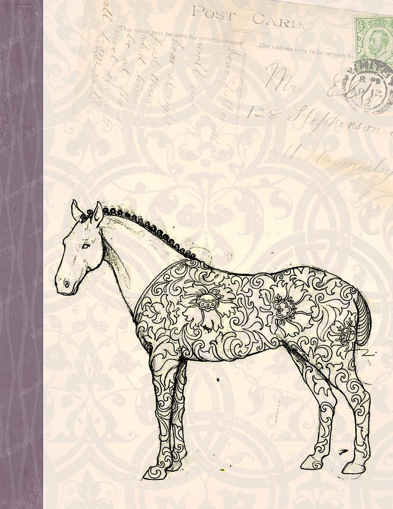 雕塑树脂动物马