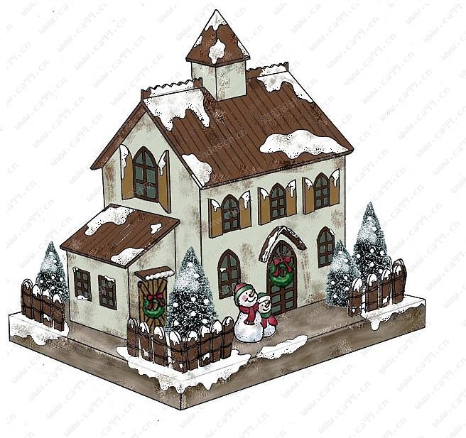 圣诞纸房子-设计案例_彩虹设计网