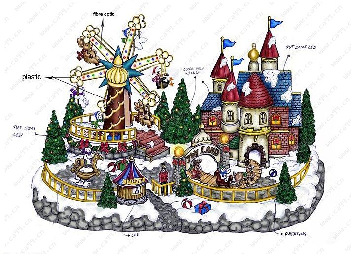 圣诞房子-设计案例_彩虹设计网