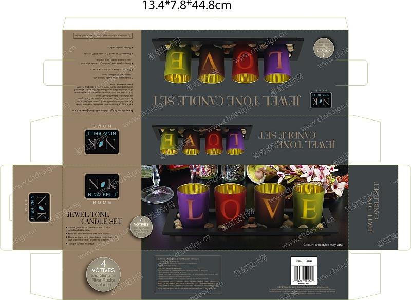 欧式烛台彩盒包装设计