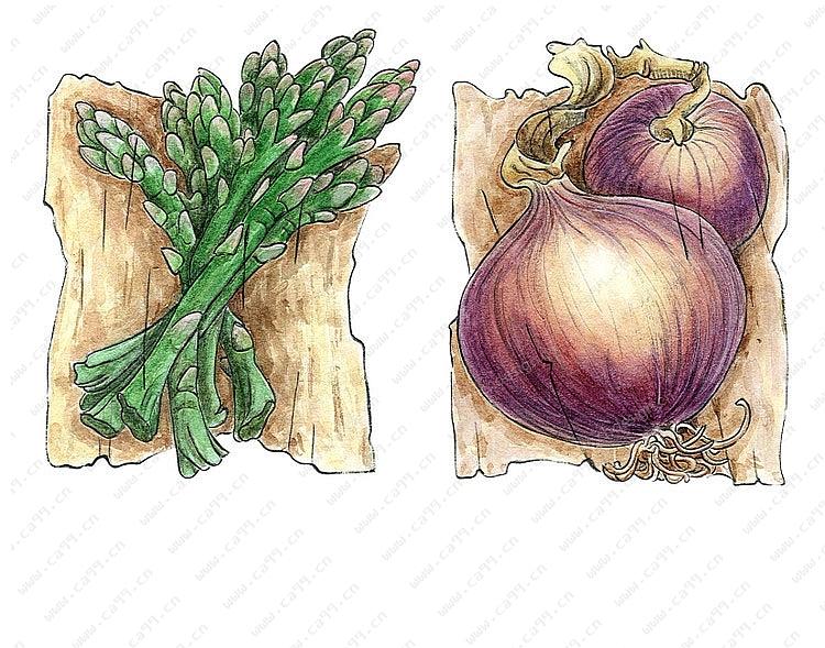 蔬果系列之手绘陶瓷 树脂摆件三-设计案例_彩虹设计网