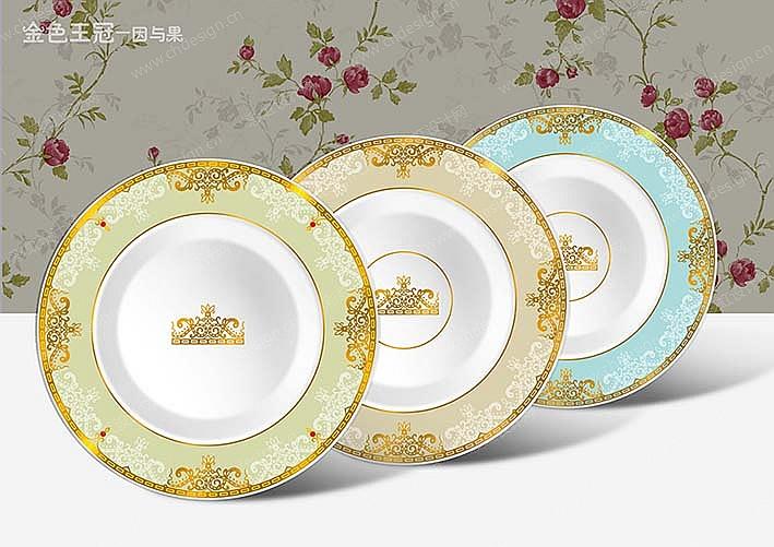 陶瓷餐具图案设计-设计案例_彩虹设计网