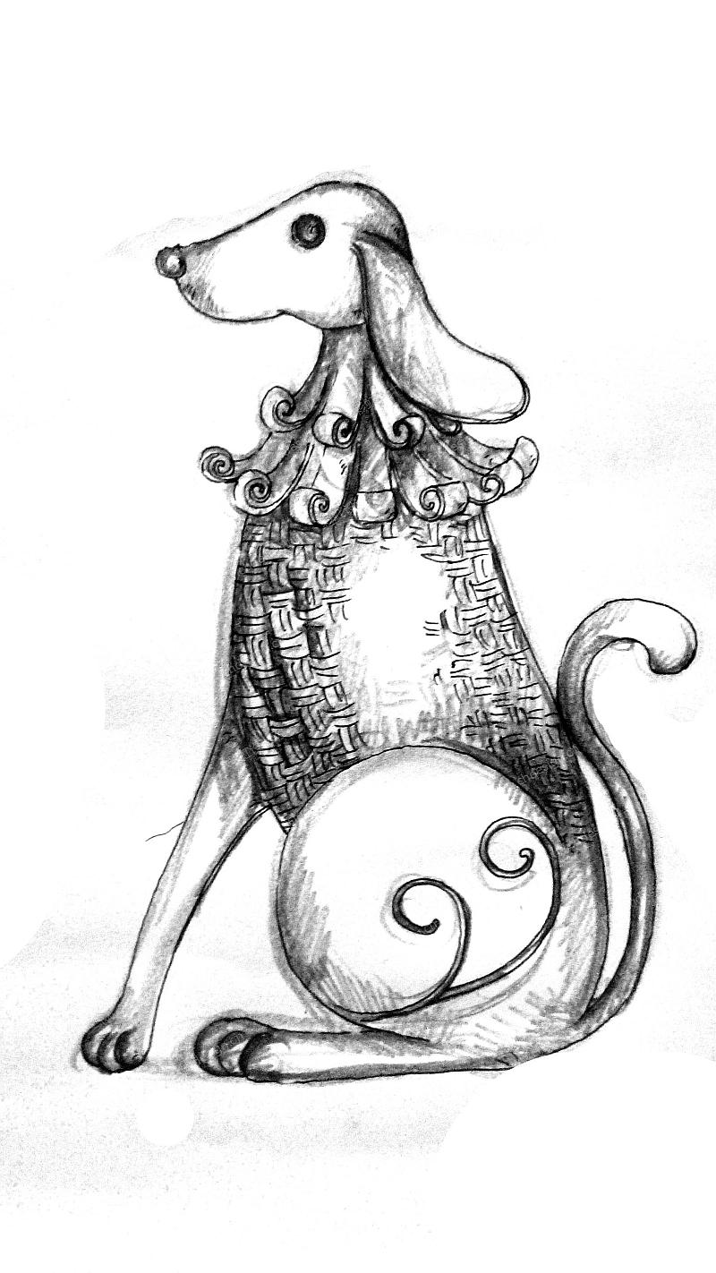 手绘创意动物脸图片