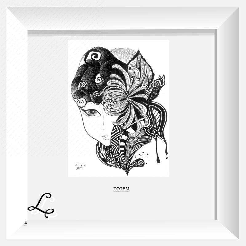 不可售 已生产上市 作品编号:ch1055724 作品名称:装饰画菊之女 创作图片