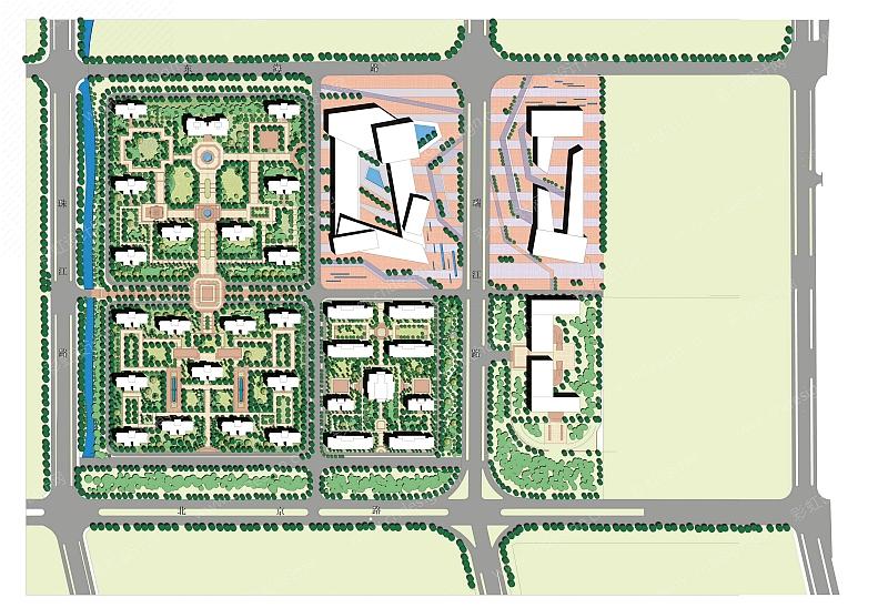 住宅区平面图 城市规划平面图
