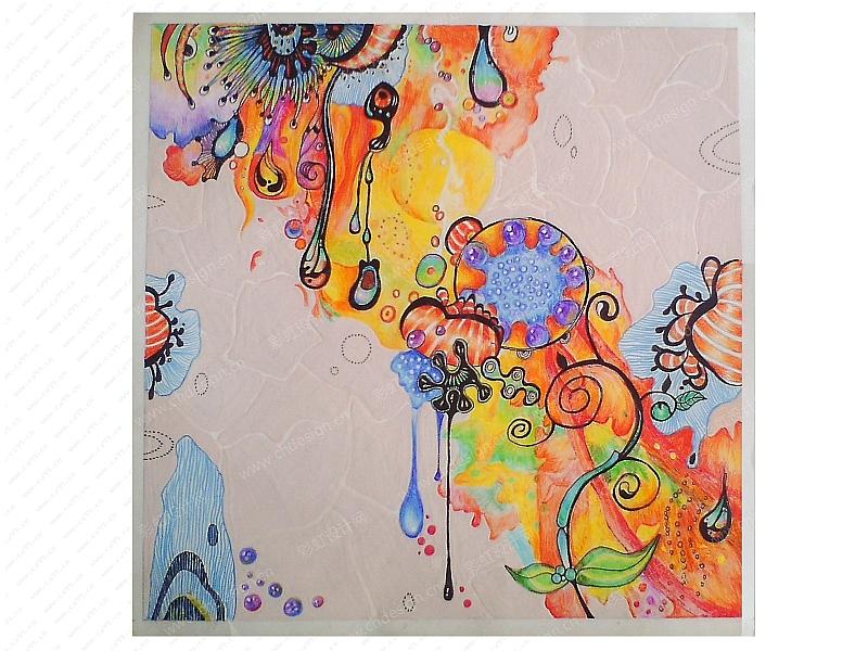 原创彩铅手绘平面设计 装饰画