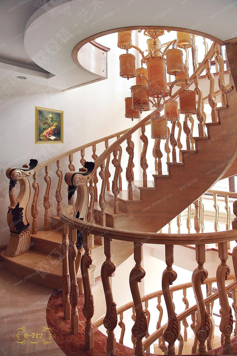 实木楼梯-设计案例_彩虹设计网
