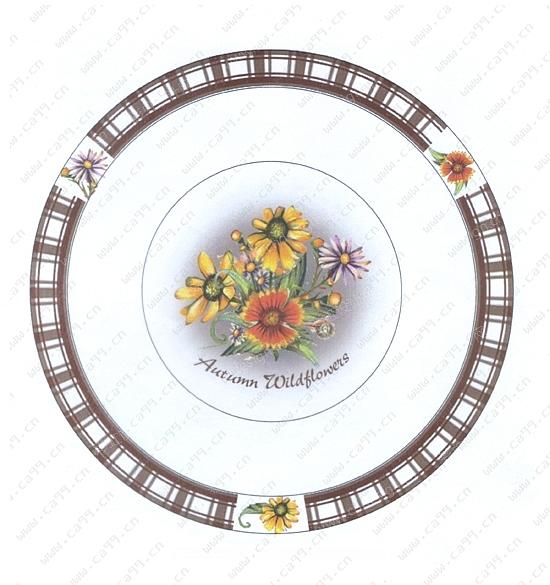 3d和手绘陶瓷盘子设计图