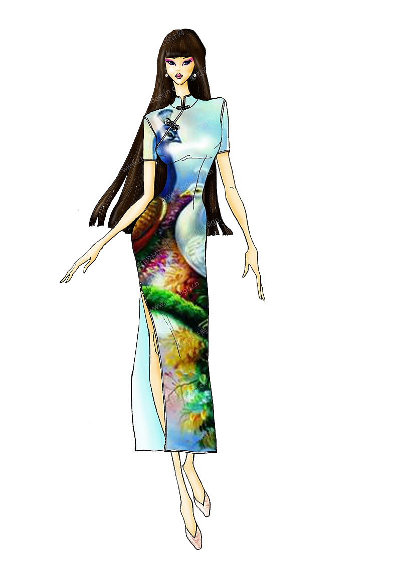 旗袍物语服装设计-设计案例