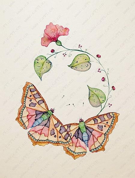 插画蝴蝶手绘图案  已生产上市     创作时间: 2015-06-17 作品荣誉