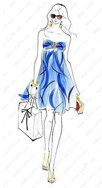 裙子手绘款式设计