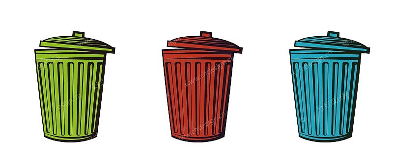 垃圾桶贴标设计-设计案例
