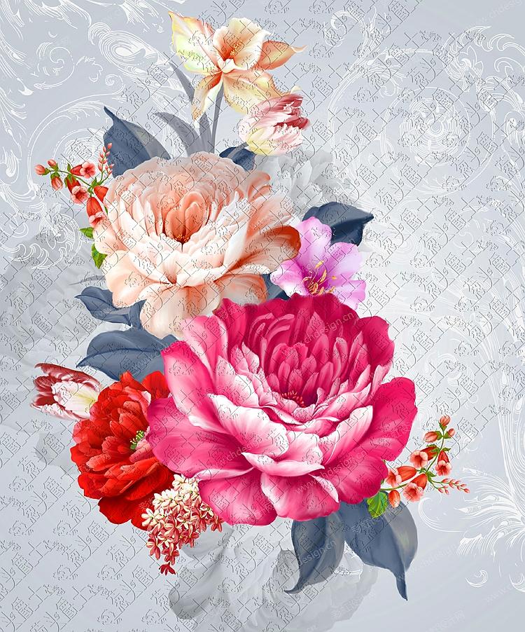 陶瓷花面花卉图案