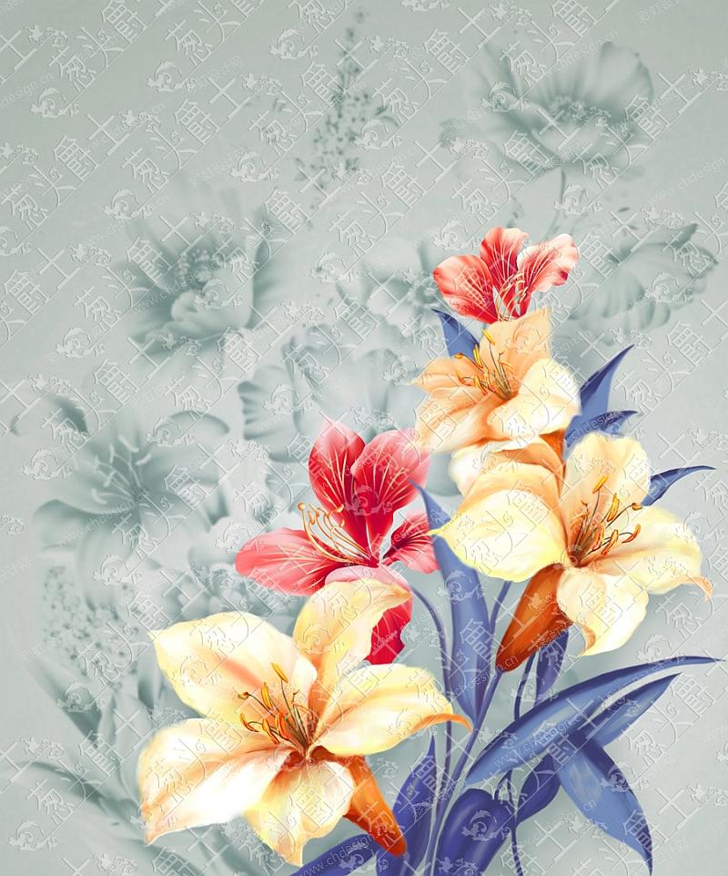 陶瓷花面花卉图案-设计案例_彩虹设计网