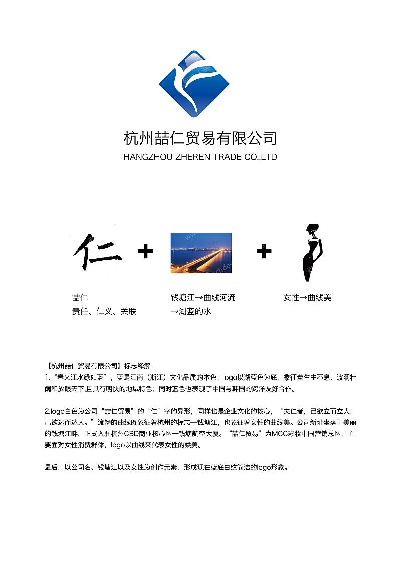 喆仁logo设计方案及释解图片