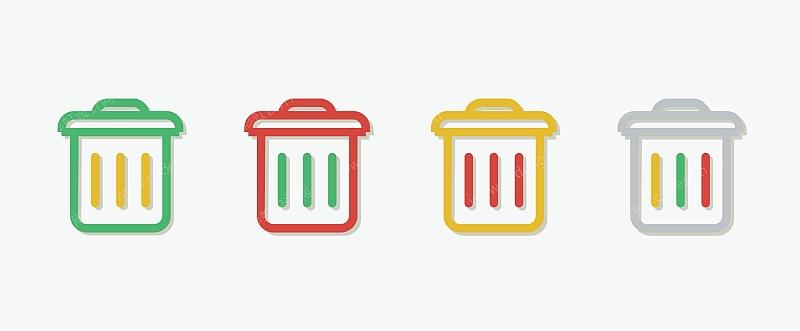 垃圾桶贴标图案设计图片