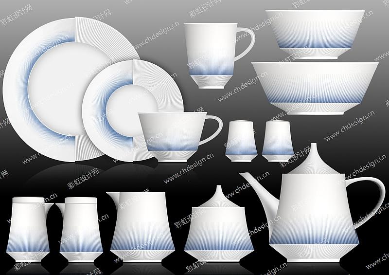 陶瓷花面餐具-设计案例_彩虹设计网