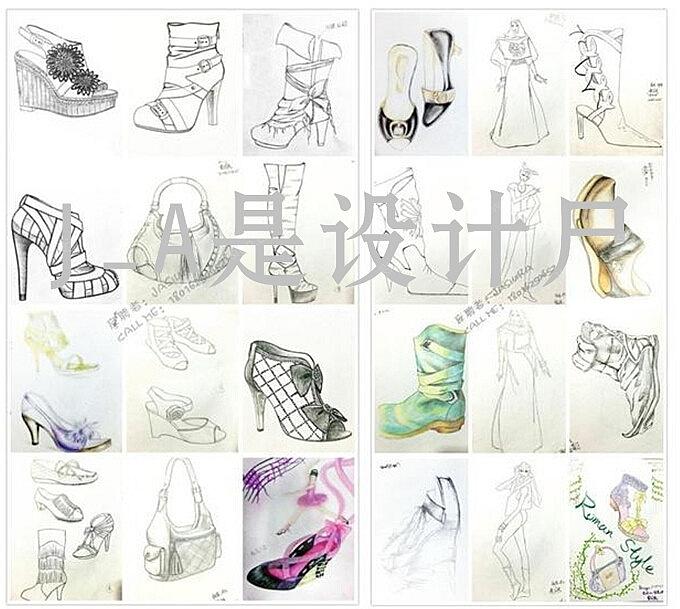 手绘鞋子款式设计