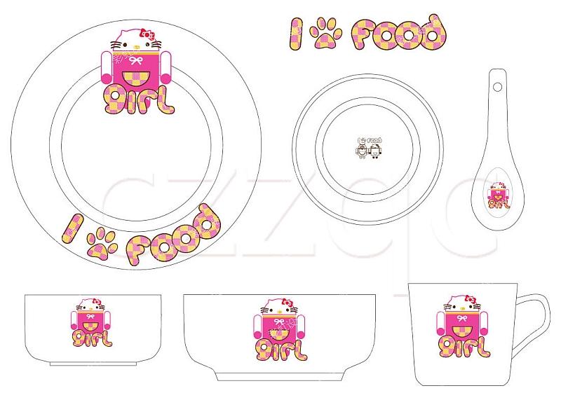 儿童餐具花纸-设计案例_彩虹设计网