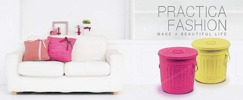 垃圾桶贴标图案设计-设计案例