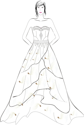 服装设计晚礼服裙子