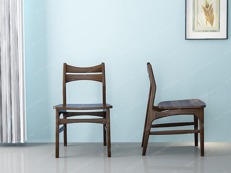 实木餐椅家具设计