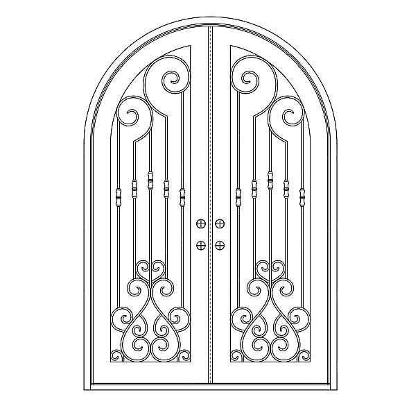 欧式铁门窗-设计案例_彩虹设计网