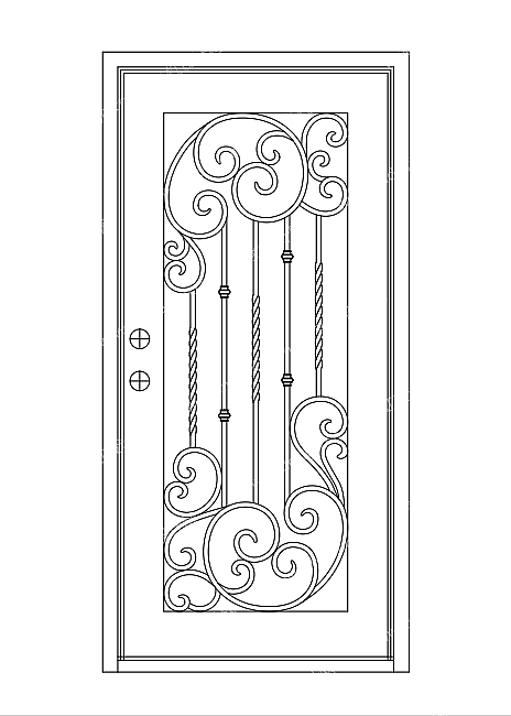 欧式铁门-设计案例_彩虹设计网