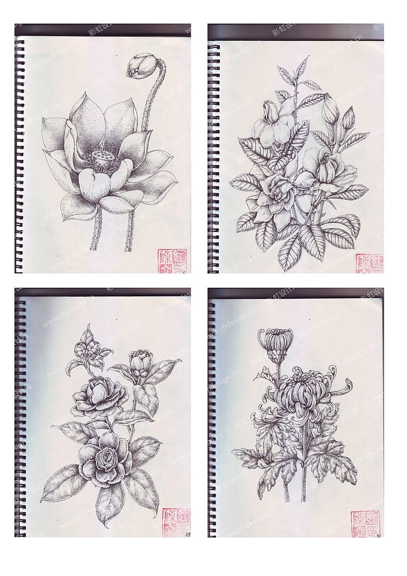设计案例 工艺品设计 点画手绘花卉  已生产上市     创作时间: 2015