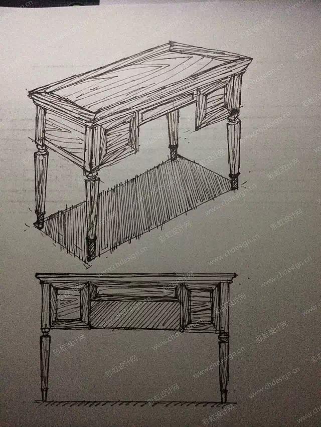 手绘家具-设计案例_彩虹设计网