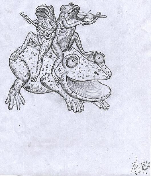 创意素描 动物矛盾